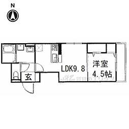 JR東海道・山陽本線 長岡京駅 徒歩10分の賃貸アパート 3階1LDKの間取り