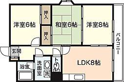 サンブライト吉島[2階]の間取り