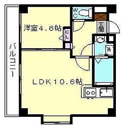 ヴォーヌンク博多駅東[3階]の間取り