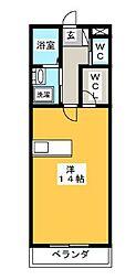 EMINENCE清原台 3階ワンルームの間取り