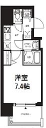 エグゼ堺筋本町 2階1Kの間取り