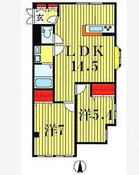 ロイヤルメゾンソフィア[1階]の間取り
