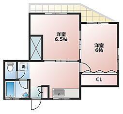 山藤荘[1階]の間取り