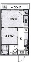 第三タカハシマンション bt[301kk号室]の間取り