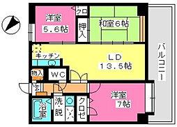 ウィステリア21[2階]の間取り