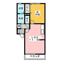 オリーブA・B[2階]の間取り