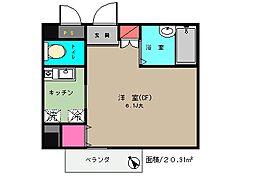 AIKU・BLD[201号室]の間取り