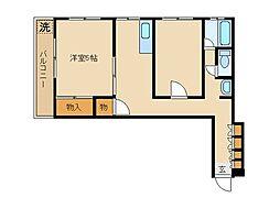 東京都豊島区高松3丁目の賃貸マンションの間取り