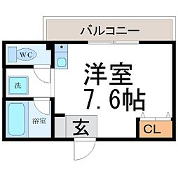 シャトーメイジ[4階]の間取り