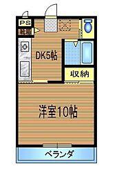 コスモ33[303号室]の間取り
