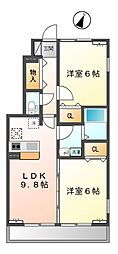 東京都三鷹市大沢2丁目の賃貸アパートの間取り