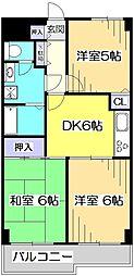 ロイヤルキャステージ恋ヶ窪[2階]の間取り