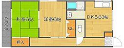 トモエハイツII[3階]の間取り