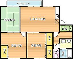 プリシェール浅川 B棟[2階]の間取り