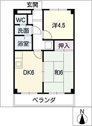 落合マンション[3階]の間取り