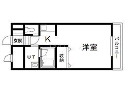 サテラ永山 1階1Kの間取り