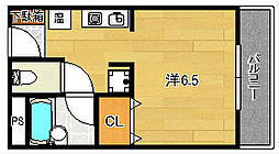大阪府茨木市松ケ本町の賃貸マンションの間取り