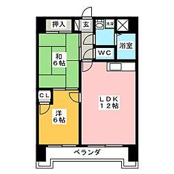 Scudetto Matsubara[7階]の間取り