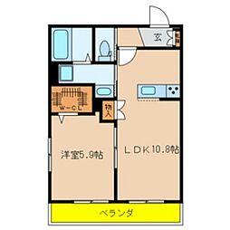 仮)鎌ケ谷メゾンEAST[201号室]の間取り