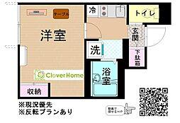 小田急小田原線 鶴川駅 バス12分 妙福寺前下車 徒歩1分の賃貸アパート 1階1Kの間取り