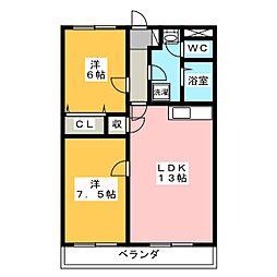 ストークハウス壱町田[1階]の間取り