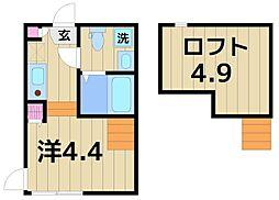 (仮称)綾瀬一丁目Bコーポ[201号室]の間取り