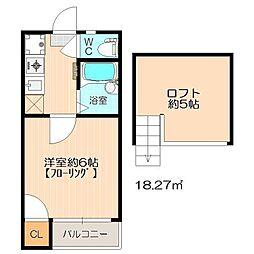 チェリーハウス博多[2階]の間取り