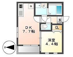 MOVE六番町WEST[3階]の間取り