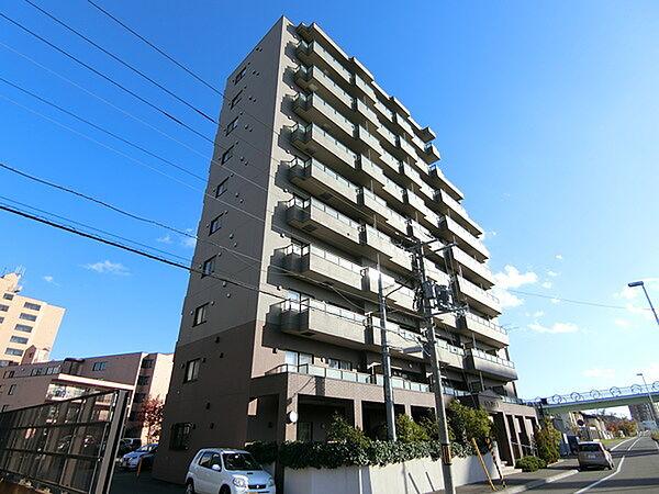 北海道札幌市厚別区大谷地西1丁目の賃貸マンションの外観