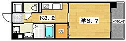 香里プラザ7[5階]の間取り