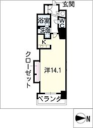 エルブ葵[5階]の間取り
