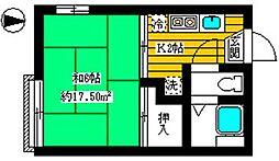 フォーブル赤塚[202号室]の間取り