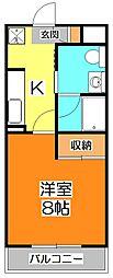 コンアモーレ清瀬[5階]の間取り