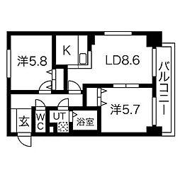 ヘルム21[8階]の間取り