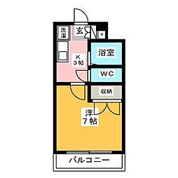 リゲール箱崎[1階]の間取り