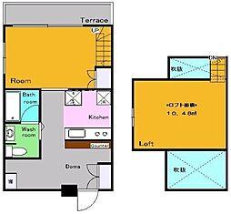 東京都練馬区高野台3丁目の賃貸アパートの間取り