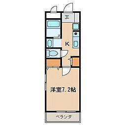 ディアコート北小金[2階]の間取り