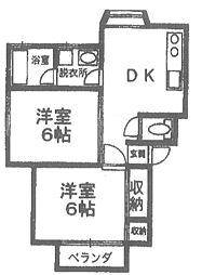 アダチコーポ[2階]の間取り