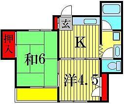 メゾン青山[3階]の間取り