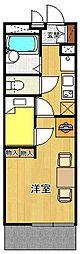 レオパレス甲子園高潮町1[3階]の間取り