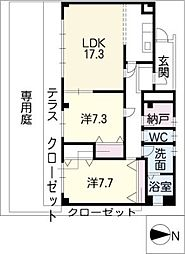 ハウスKV[1階]の間取り