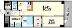 クレールフォレスタ 2階1LDKの間取り