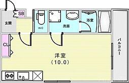 山陽電鉄本線 山陽須磨駅 徒歩6分の賃貸アパート 2階1Kの間取り