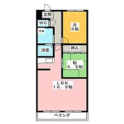 ファミール横地[1階]の間取り