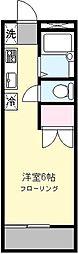 グランドール生田[105号室]の間取り