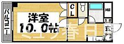 福岡県春日市日の出町4丁目の賃貸マンションの間取り