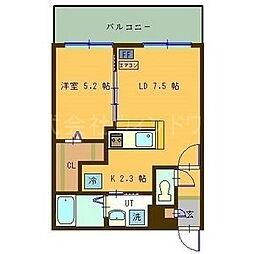 サンコート円山ガーデンヒルズ 6階1LDKの間取り