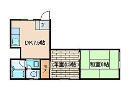 新百合ケ丘ベルシオン[2階]の間取り
