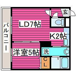 北海道札幌市東区北三十九条東19丁目の賃貸マンションの間取り