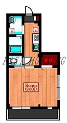 JR山手線 原宿駅 徒歩2分の賃貸マンション 1階1Kの間取り